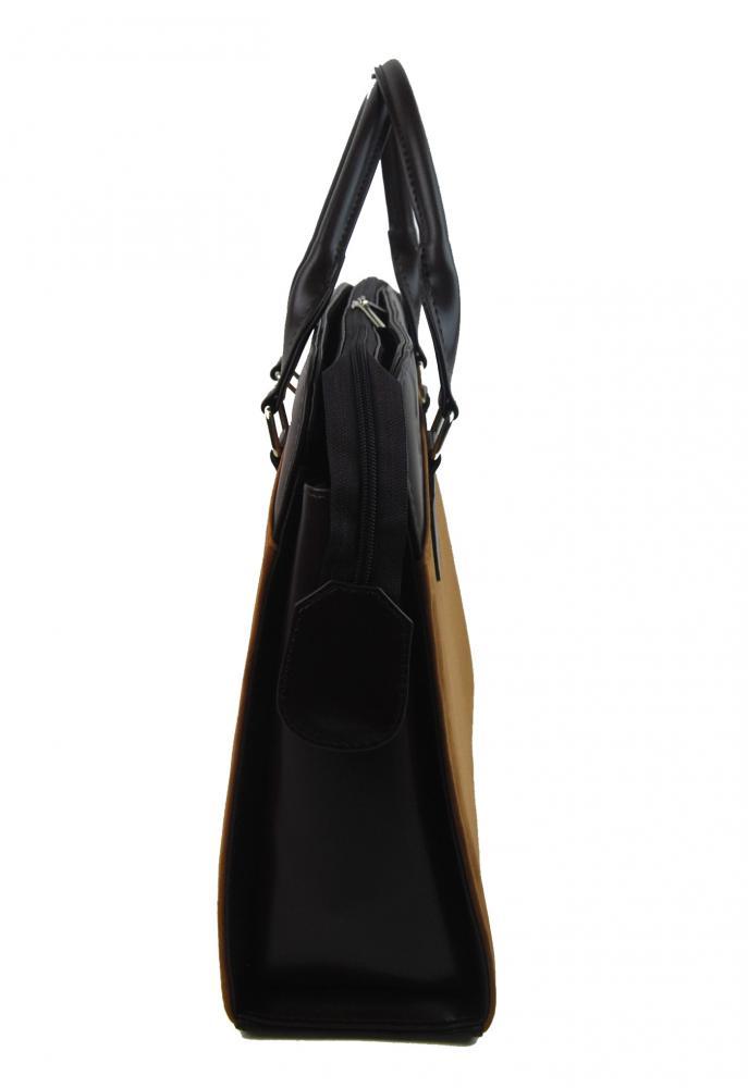 PUNCE LC-01 škoricová hnedá dámska kabelka pre notebook do 15.6 palca