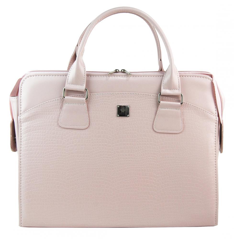 PUNCE LC-01 pudrová matná dámská kabelka pro notebook do 15.6 palce