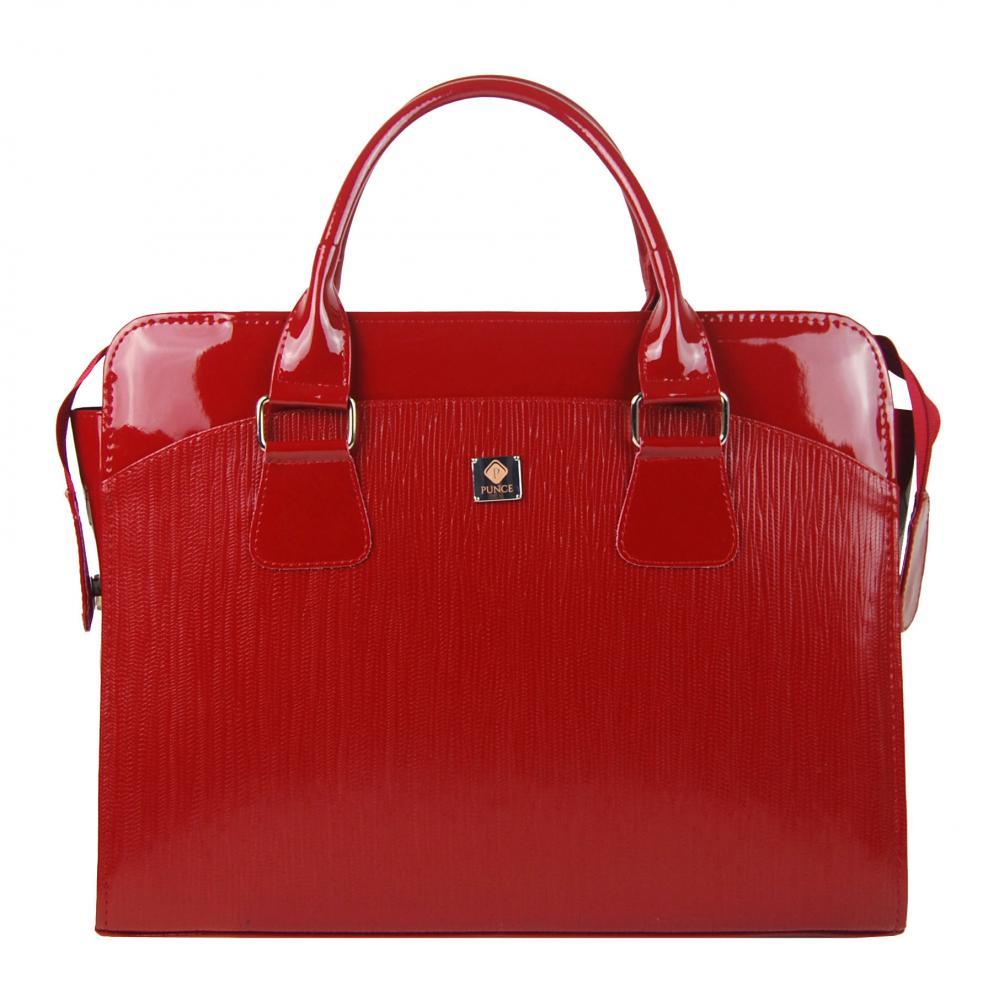 PUNCE Červená dámská taška na notebook do 15.6 palce