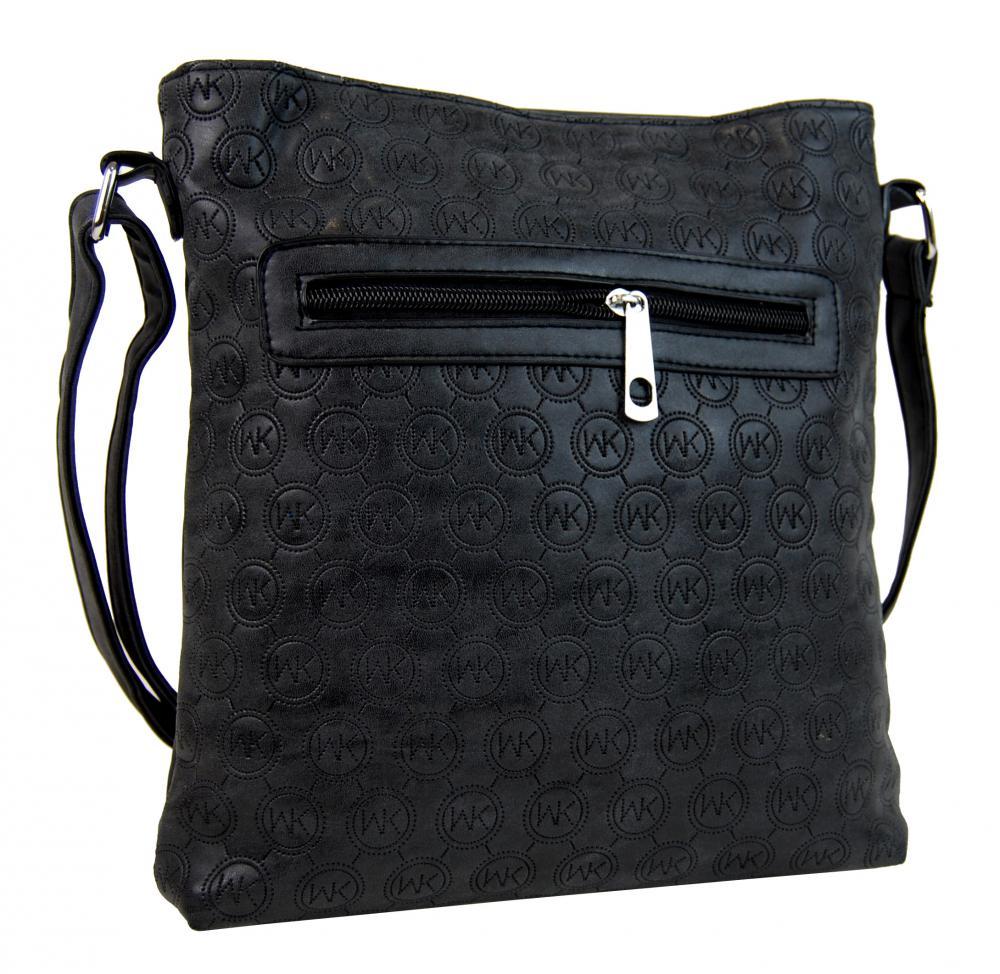 Dámska crossbody kabelka s razením R820 čierna