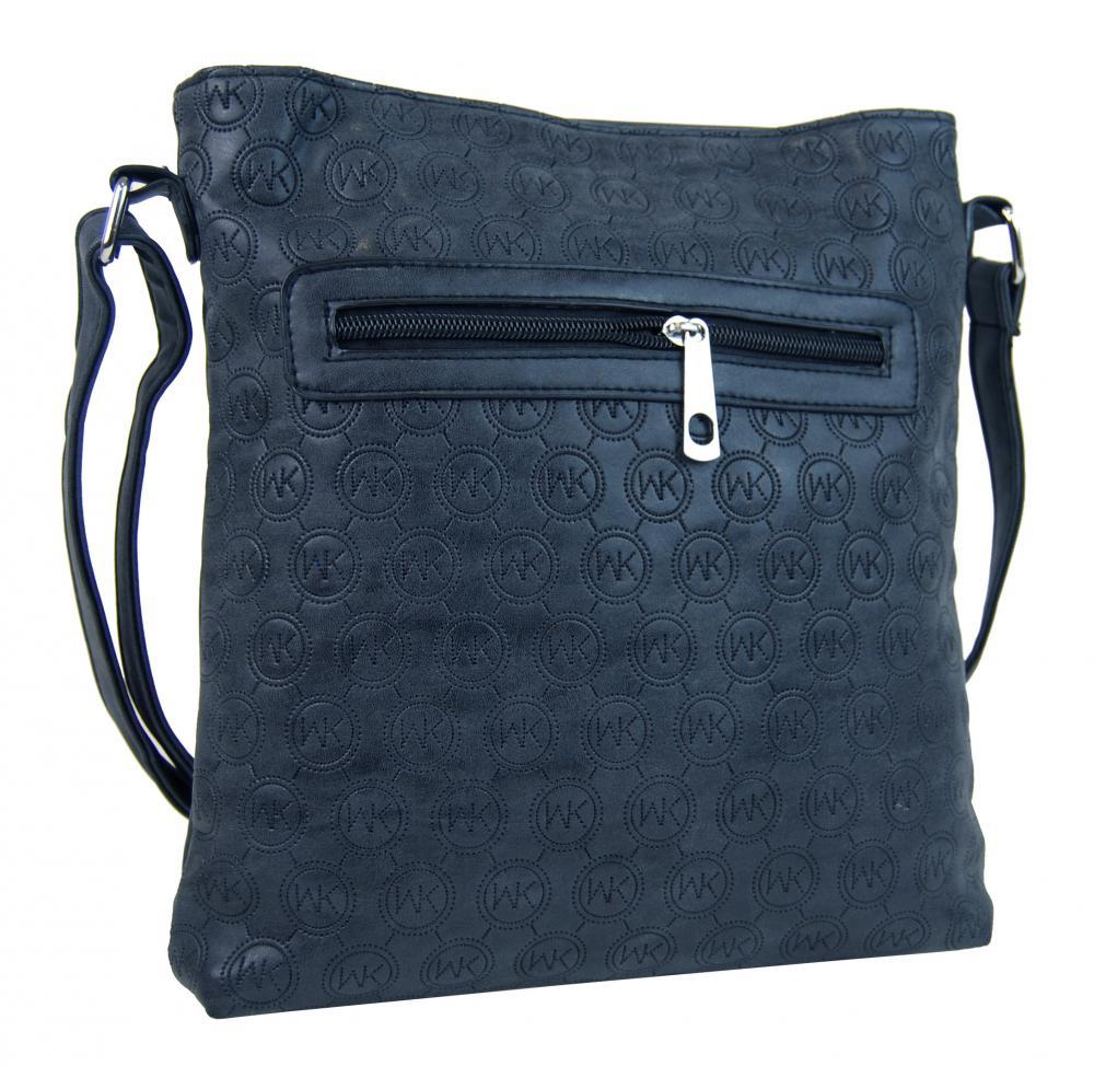 Dámská crossbody kabelka s ražením R820 tmavě modrá