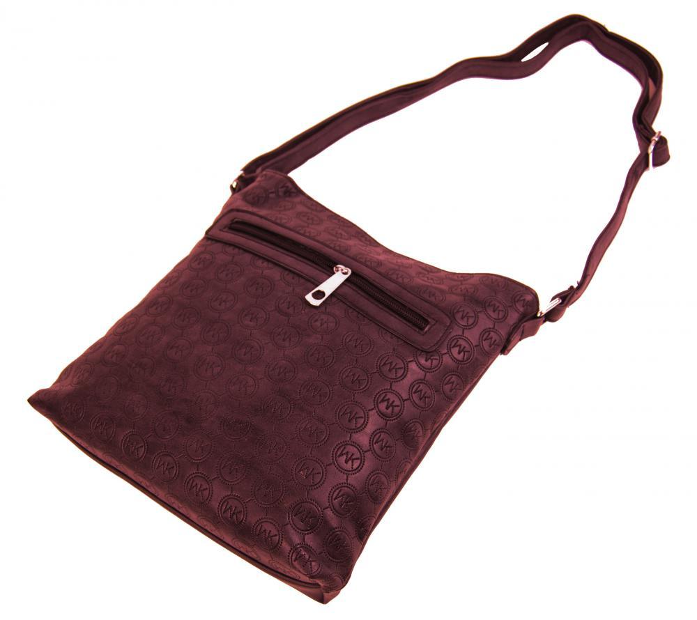 Dámská crossbody kabelka s ražením R820 bordo