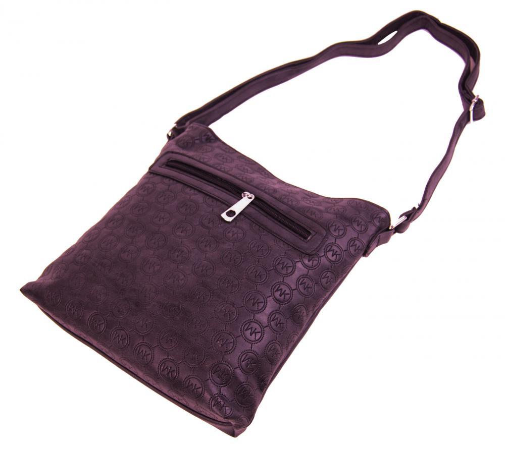 Dámská crossbody kabelka s ražením R820 vínová