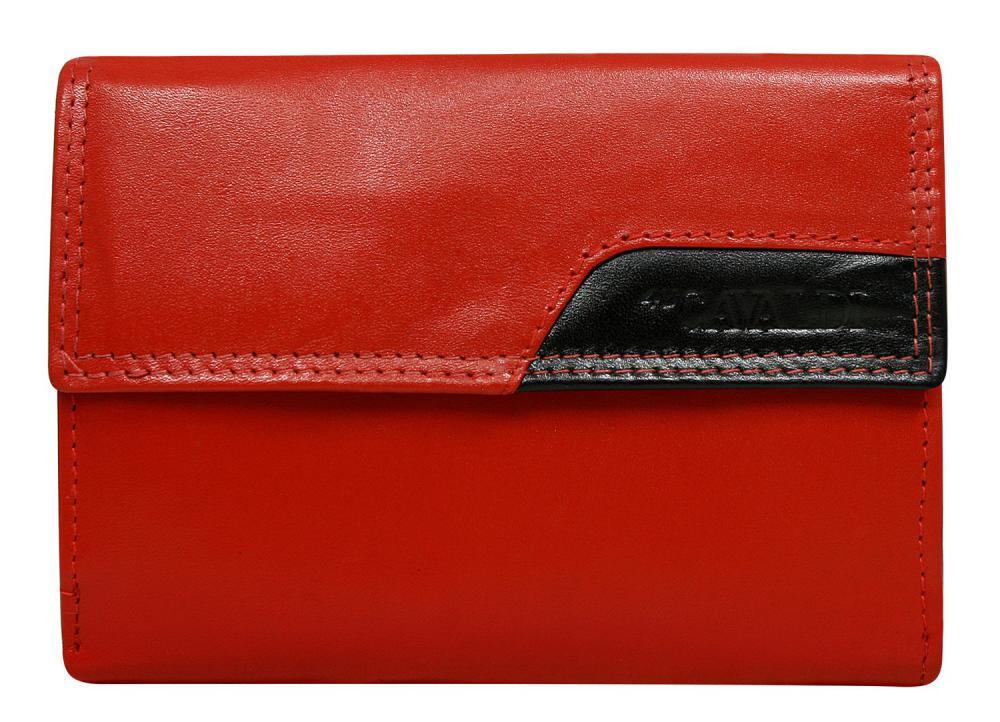 CAVALDI Kožená peněženka dámská červená