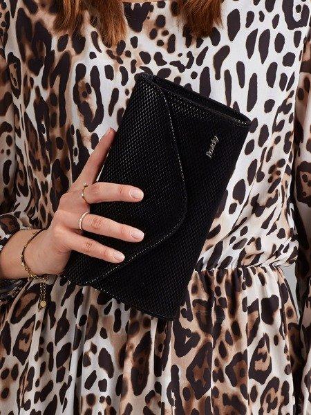 Čierna dámska listová kabelka s rastrom W35 ROVICKY