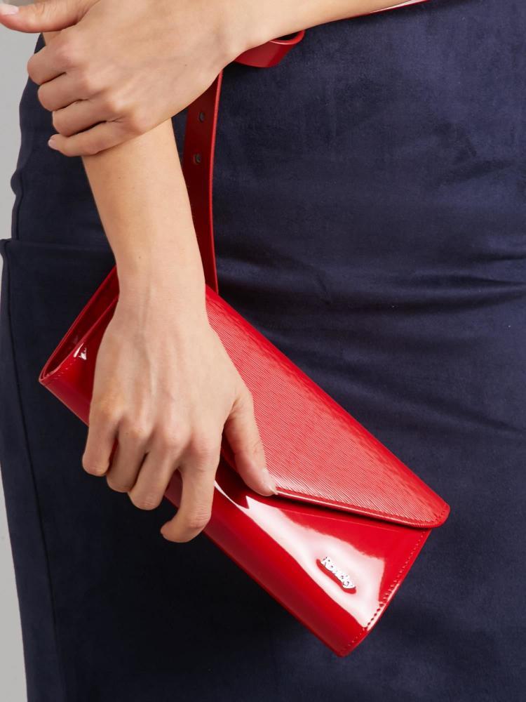 Červené lakované dámské psaníčko W35 ROVICKY
