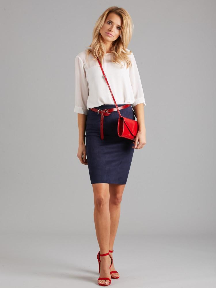 Červená lakovaná dámska listová kabelka W35 ROVICKY