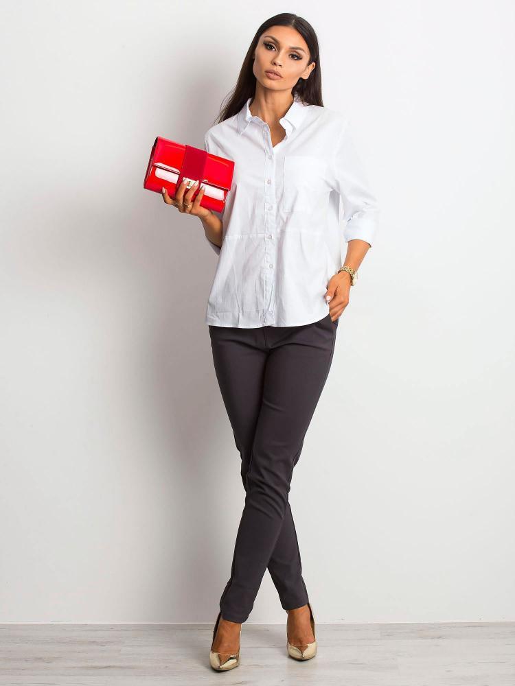 Červená lakovaná dámska listová kabelka W66 ROVICKY