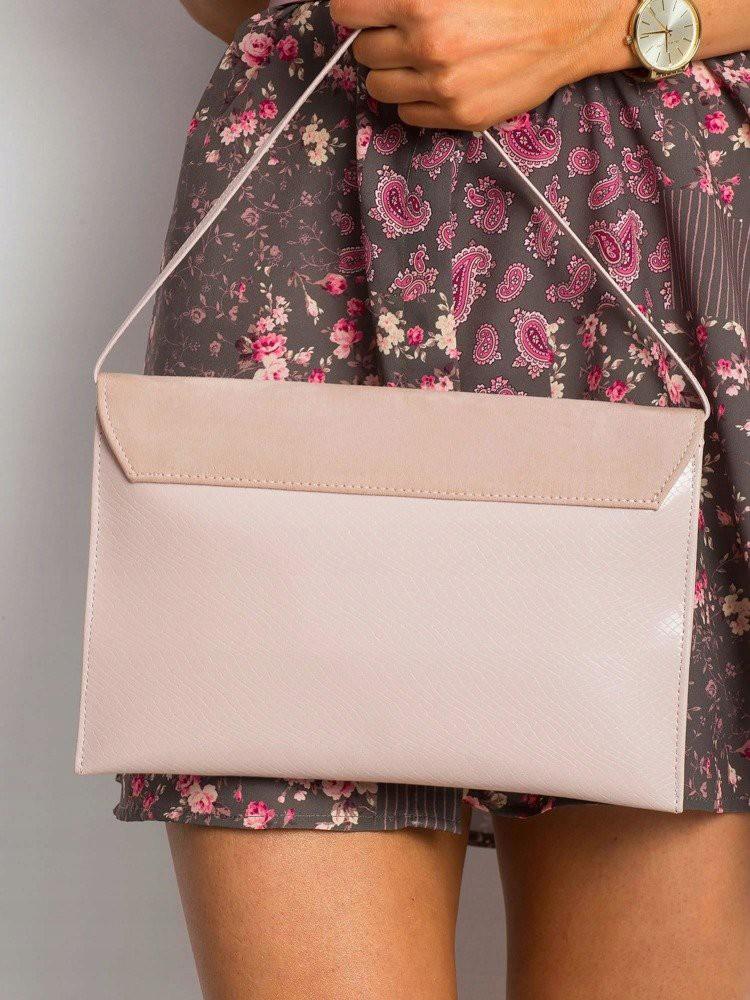 Púdrová lakovaná dámska listová kabelka W64A ROVICKY
