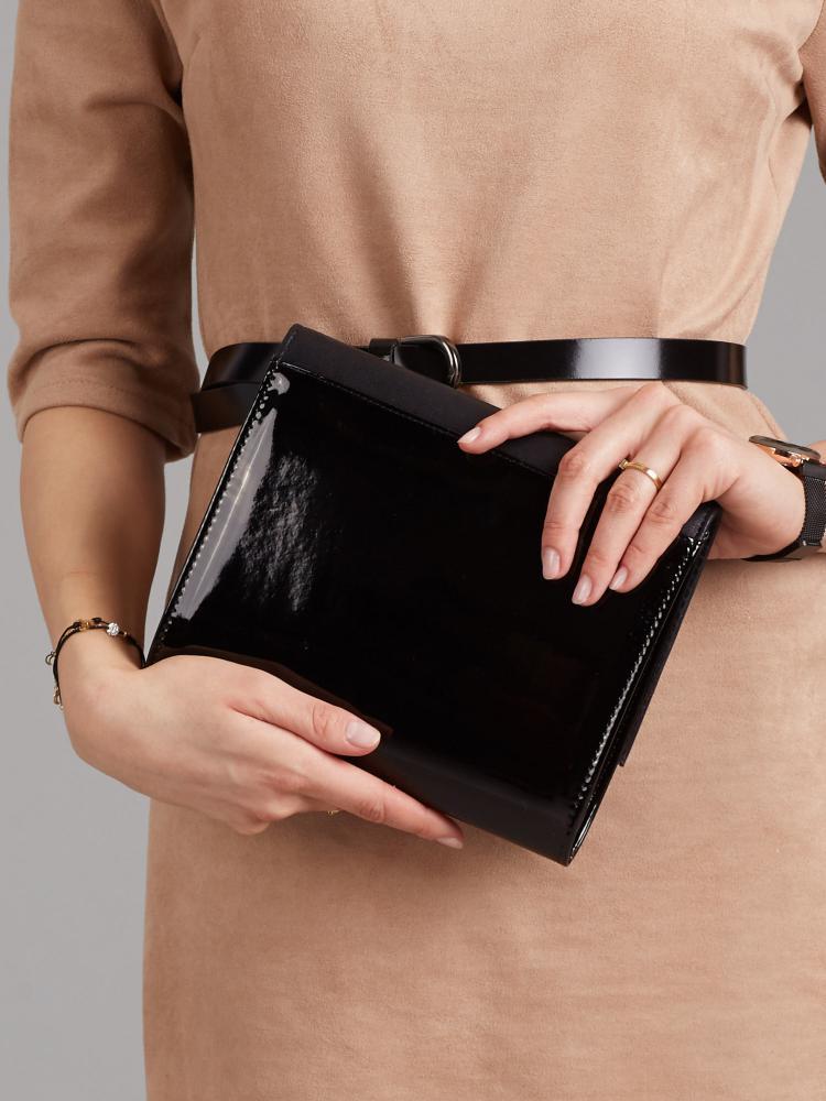 Čierna dámska listová kabelka W49 ROVICKY