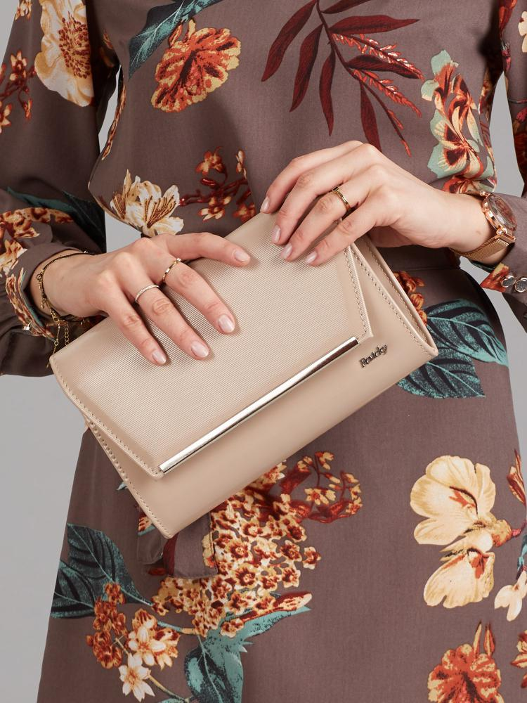 Latte kávová lakovaná luxusná dámska listová kabelka W52 ROVICKY