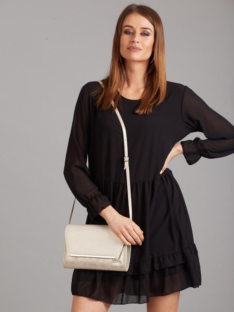 Zlatá luxusná dámska listová kabelka W52 ROVICKY