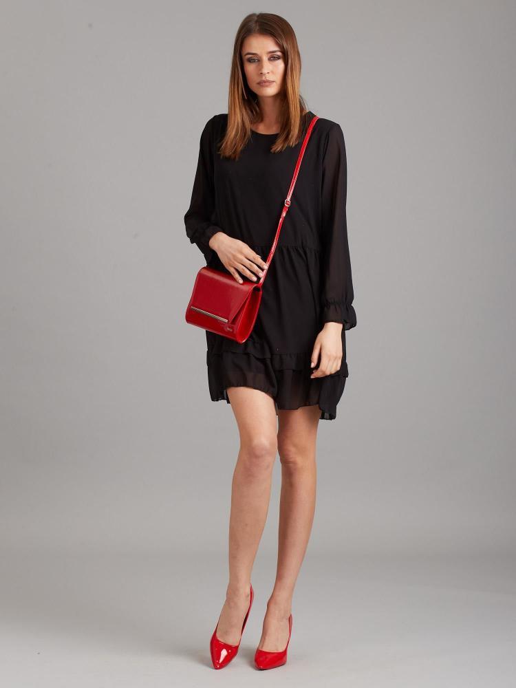 Červená luxusná dámska lakovaná listová kabelka W52 ROVICKY
