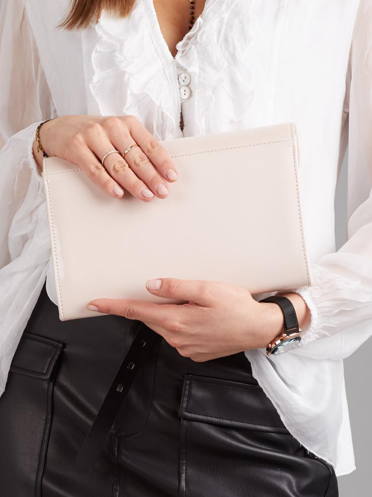 Béžové hladké lakované luxusní dámské psaníčko W52 ROVICKY