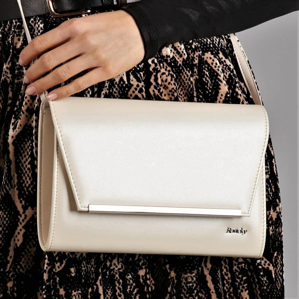 Béžová matná dámska listová kabelka W52 ROVICKY