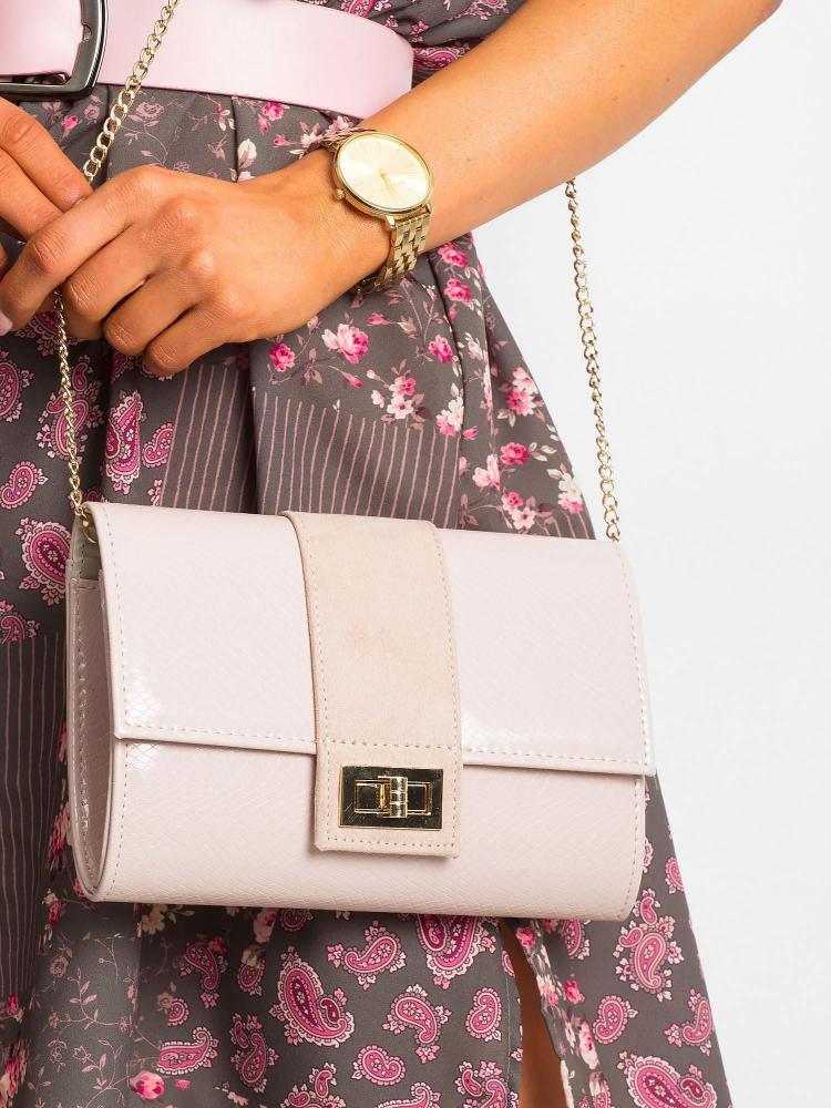 Púdrová lakovaná dámska listová kabelka W66 ROVICKY