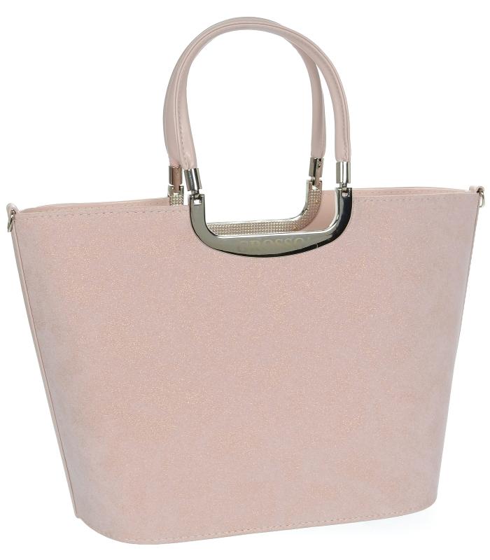 Elegantní růžová kabelka do ruky S7 GROSSO