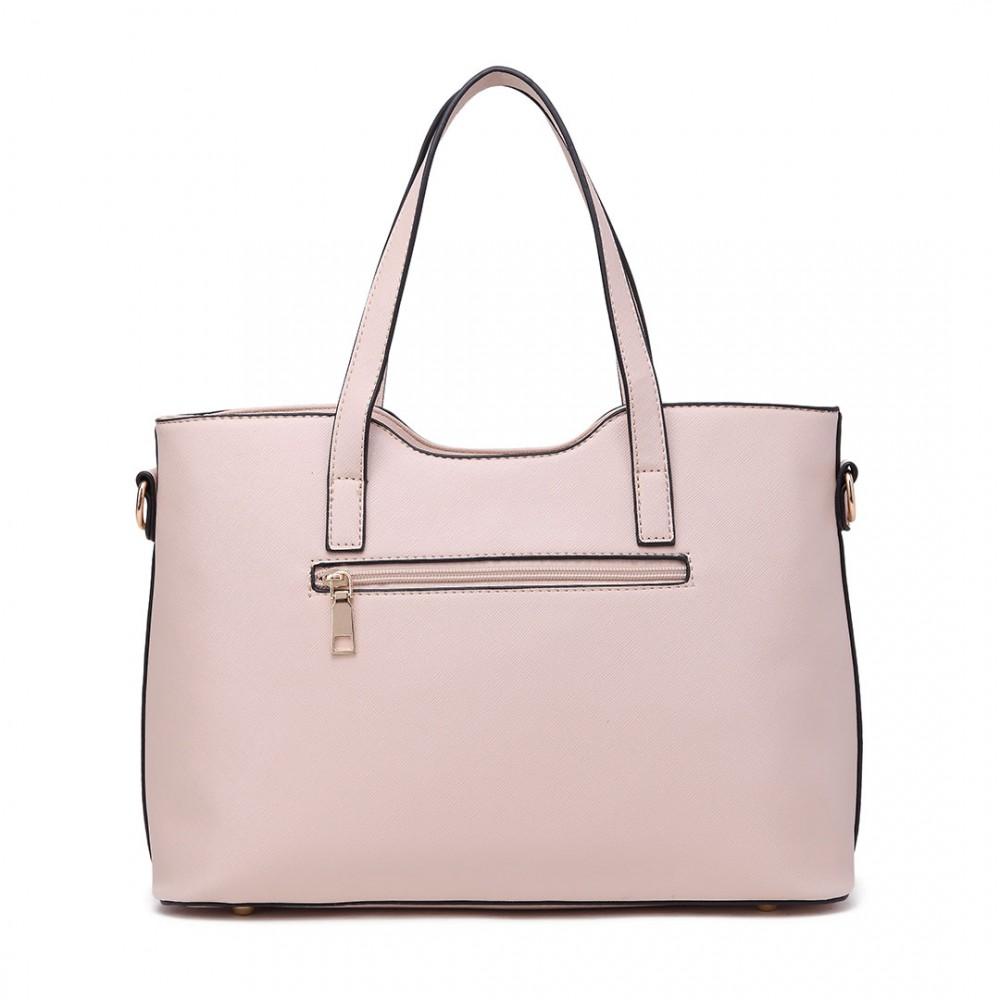 Praktický dámský kabelkový set 2v1 Miss Lulu béžová