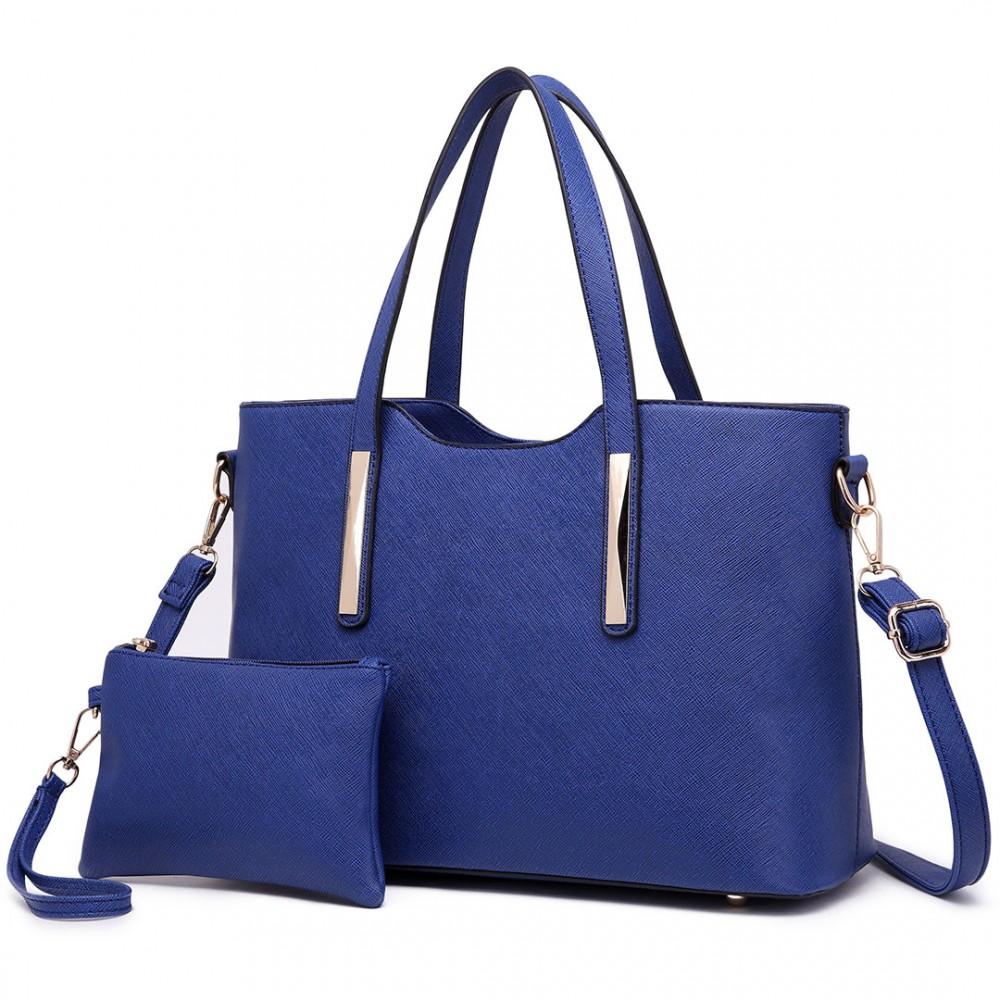 Praktický dámský kabelkový set 2v1 Miss Lulu modrá