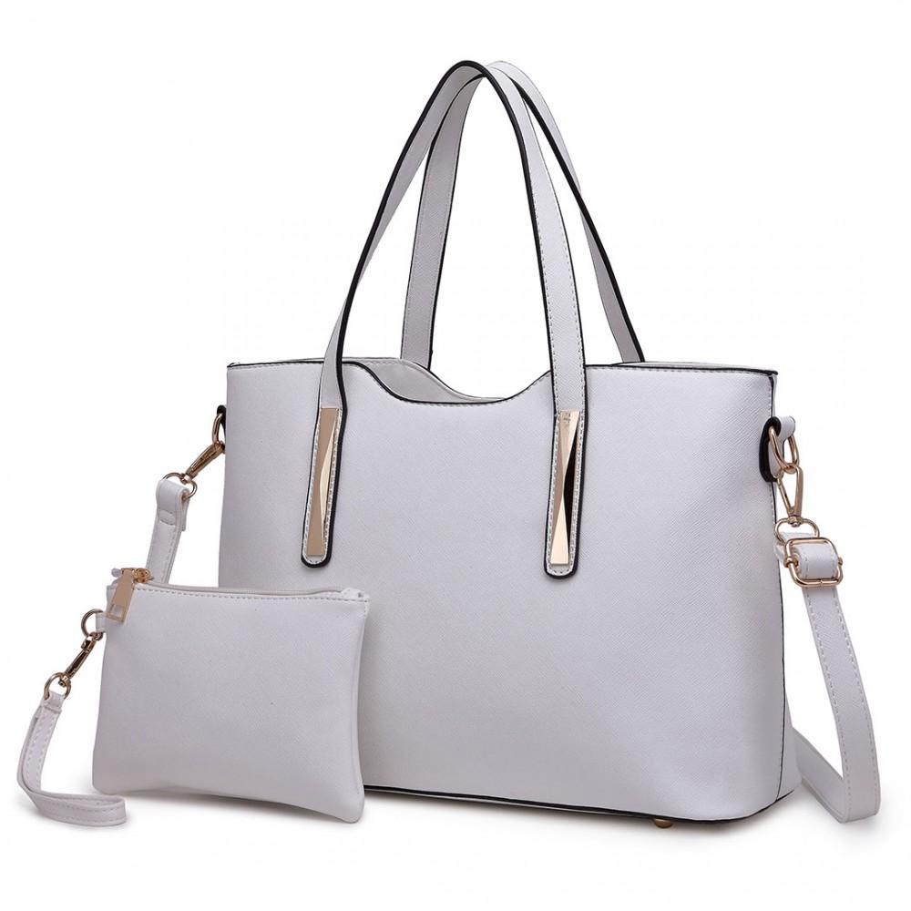 Praktický dámsky kabelkový set 2v1 Miss Lulu biela