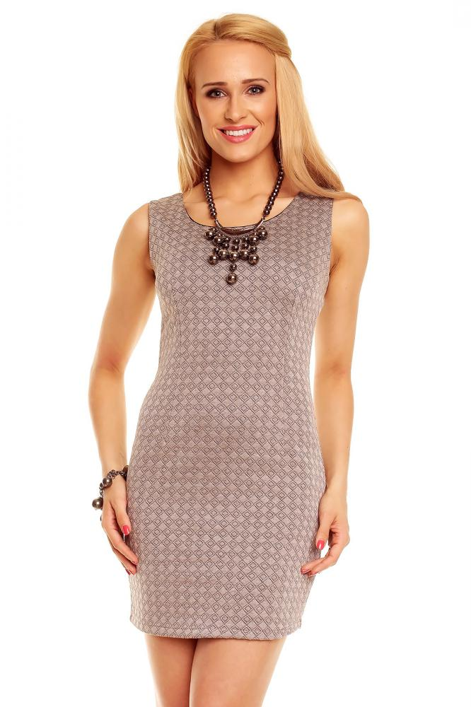 Dámske šaty Styled in Italy sivé veľkosť L