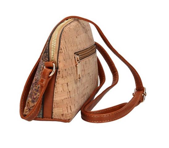 Crossbody dámska kabelka v korkovom dizajne SE250 typ5