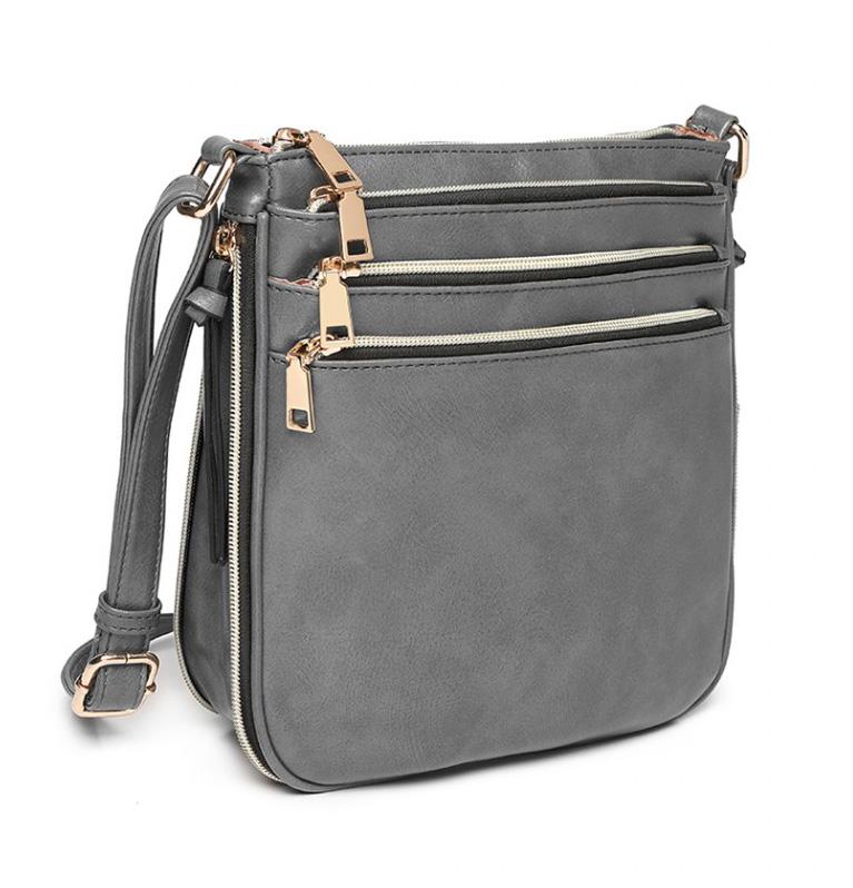 Šedá dámska kabelka cez rameno Miss Lulu