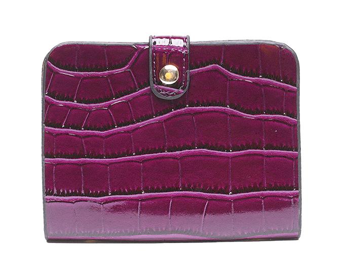 Dámský set kabelek kroko 3v1 purpurová 5093