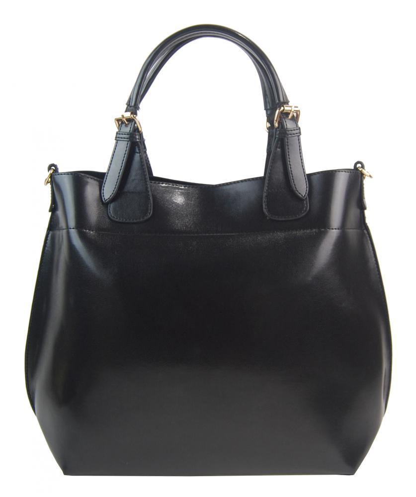 Veľká čierna dámska shopper kabelka 3435-MM