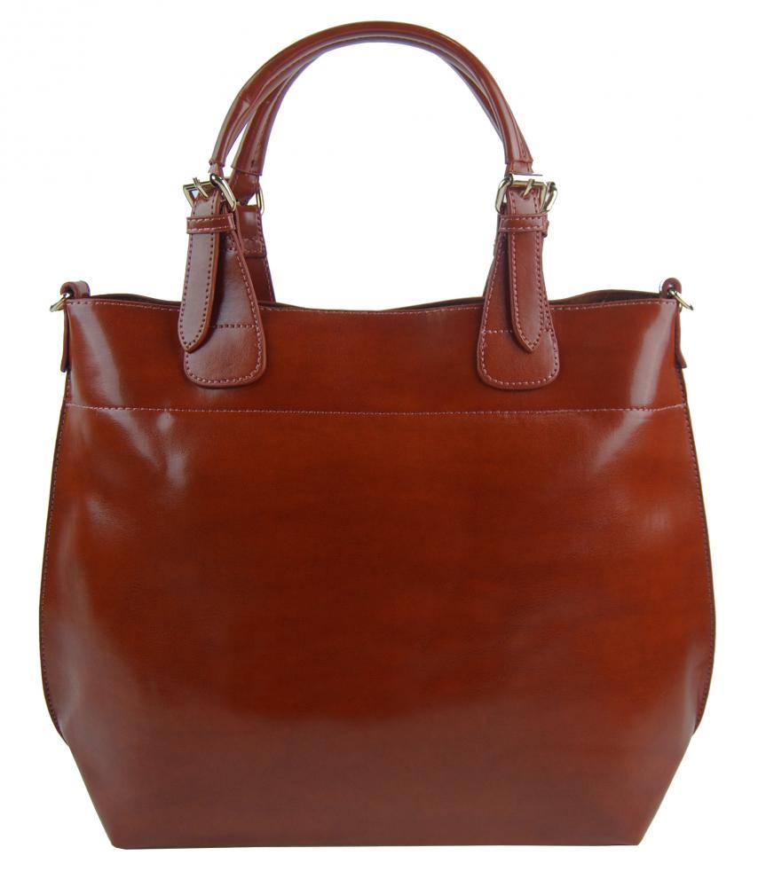 Velká hnědá dámská shopper kabelka 3435-MM
