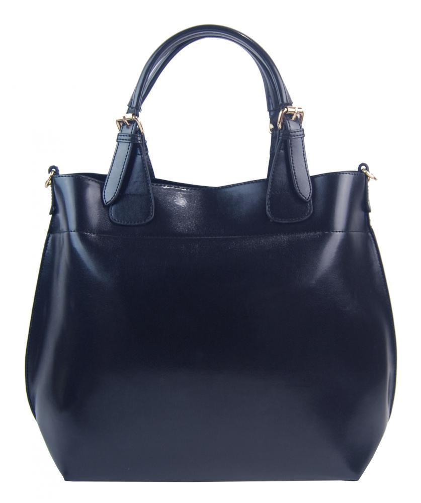Veľká tmavo modrá dámska shopper kabelka 3435-MM