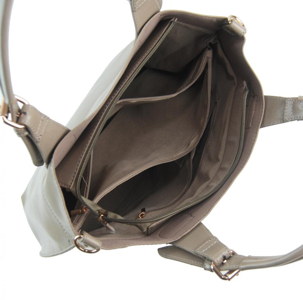 Velká šedá dámská shopper kabelka 3435-MM