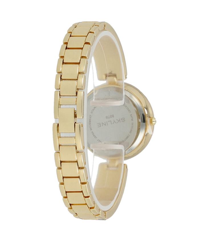 Skyline Náramkové dámske hodinky zlaté s kamienkami 9550-5