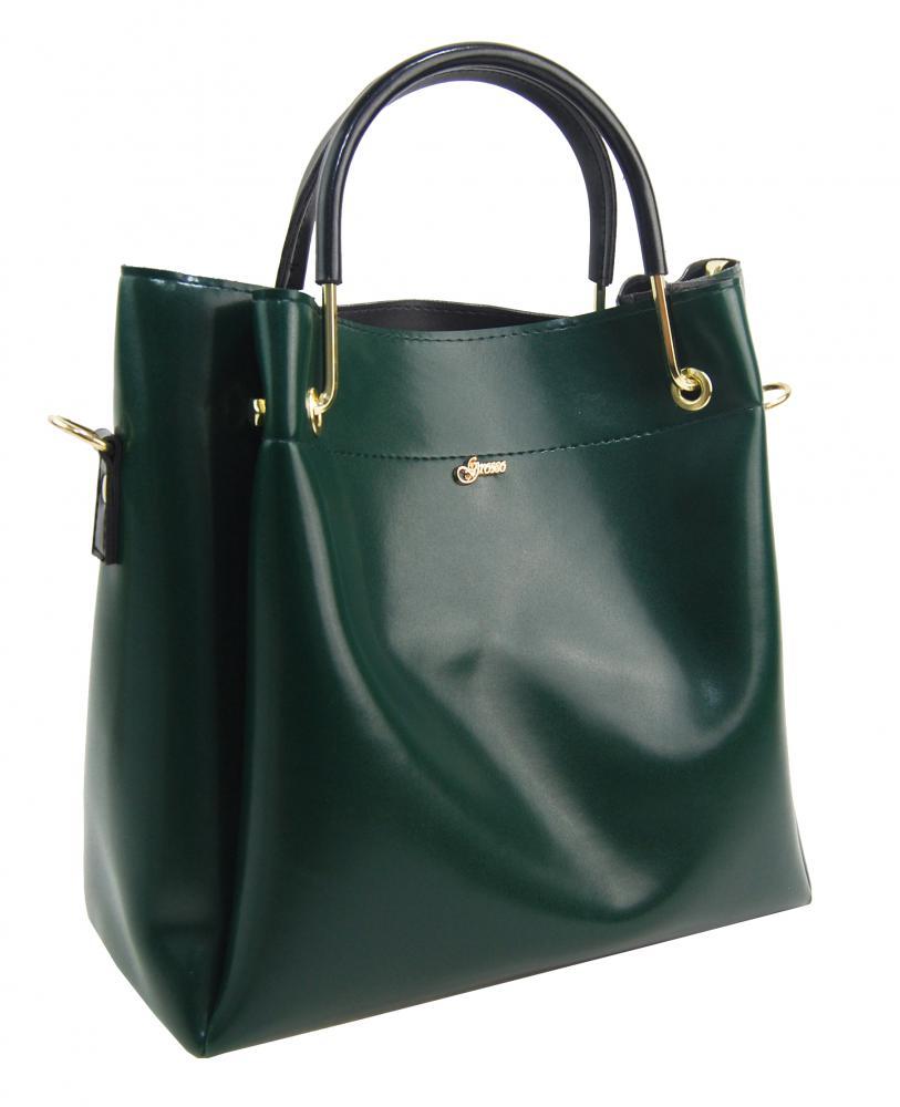 GROSSO Zelená luxusní kabelka do ruky S728