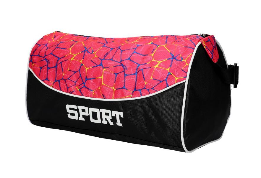 Růžová menší dámská sportovní taška 8105 M3