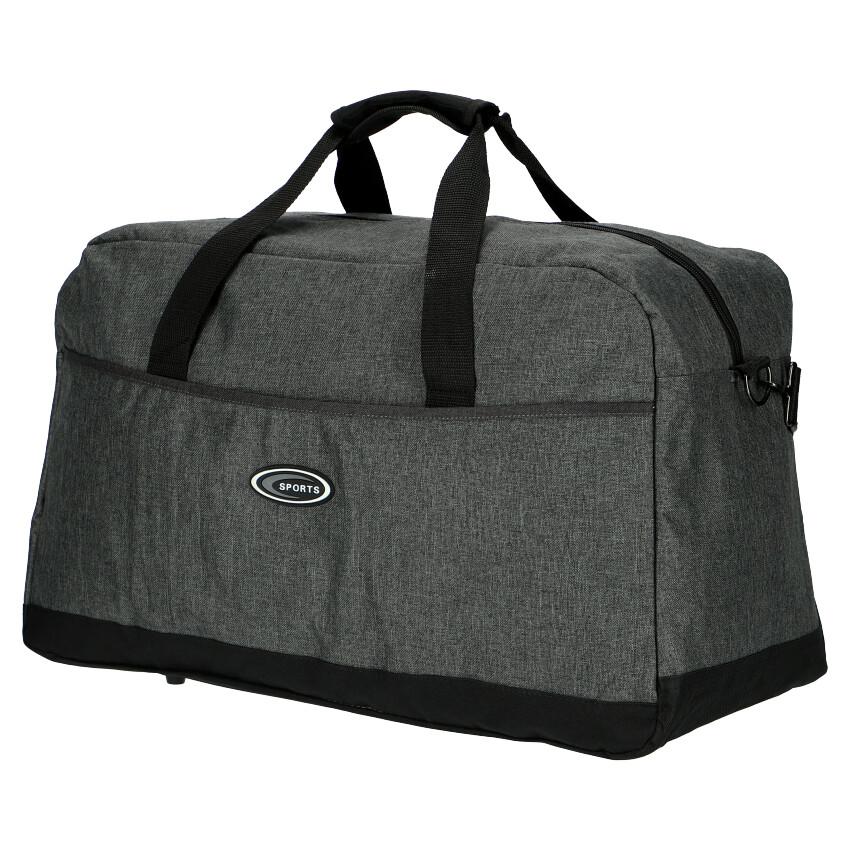 Velká sportovní taška šedá Unisex