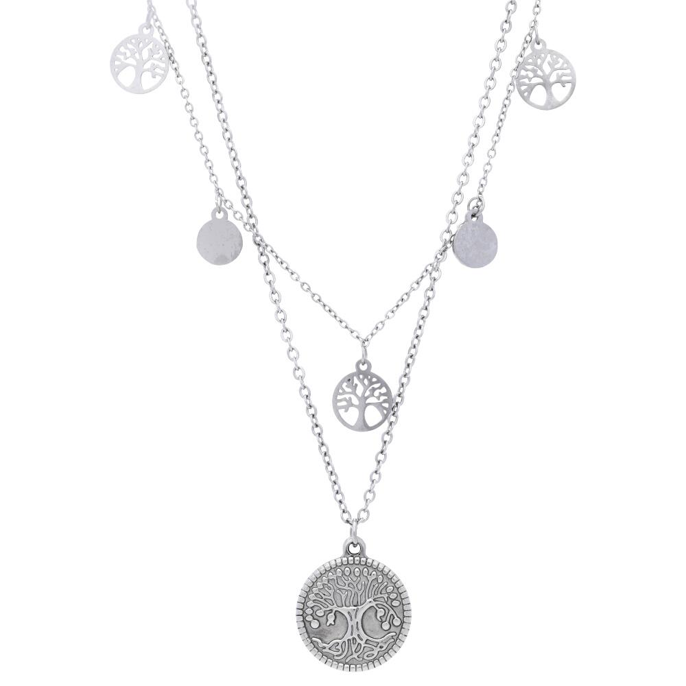 Stříbrný dámský náhrdelník se stromem života MV170093