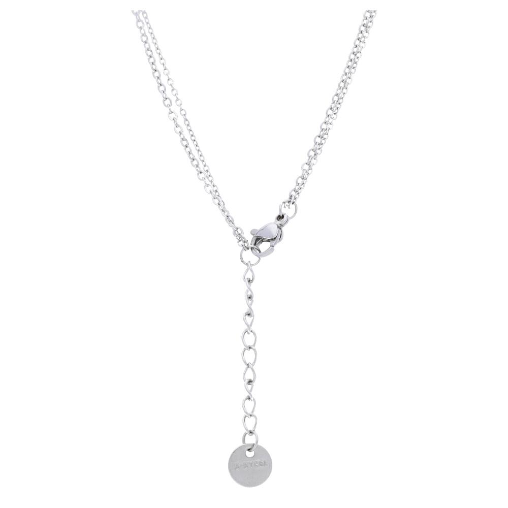 Strieborný dámsky náhrdelník s lístkom NP008