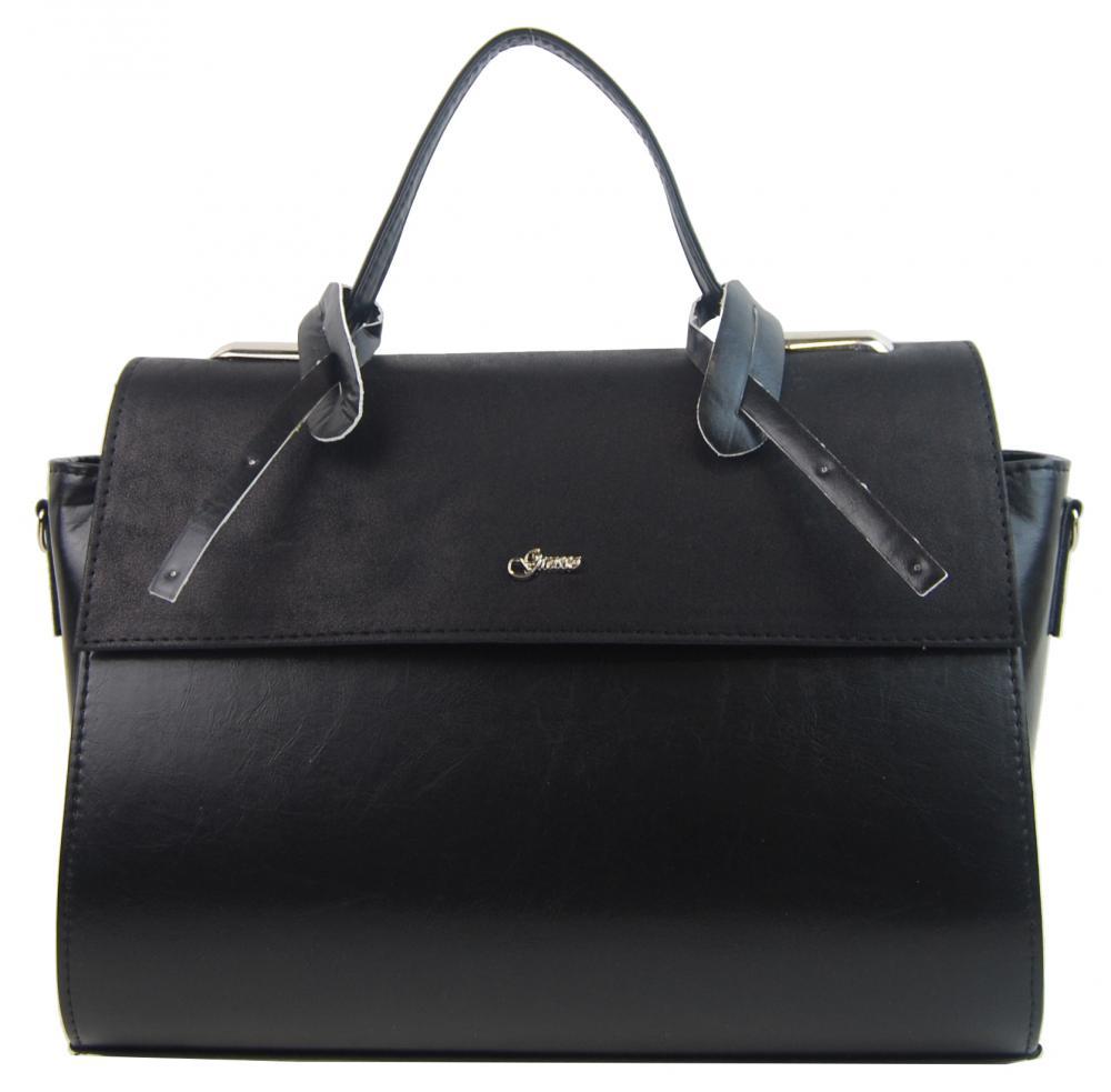 GROSSO Černá dámská stylová kabelka S754