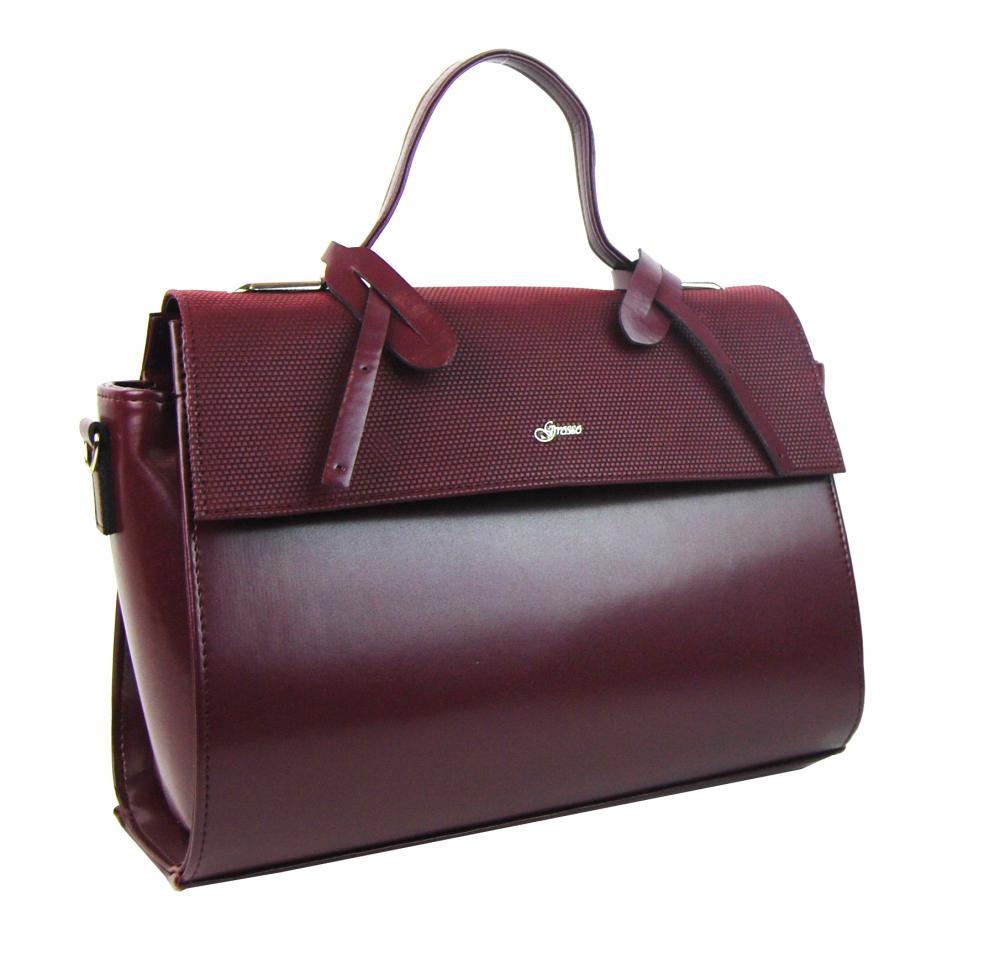 Stylová dámská kabelka S754 vínová GROSSO