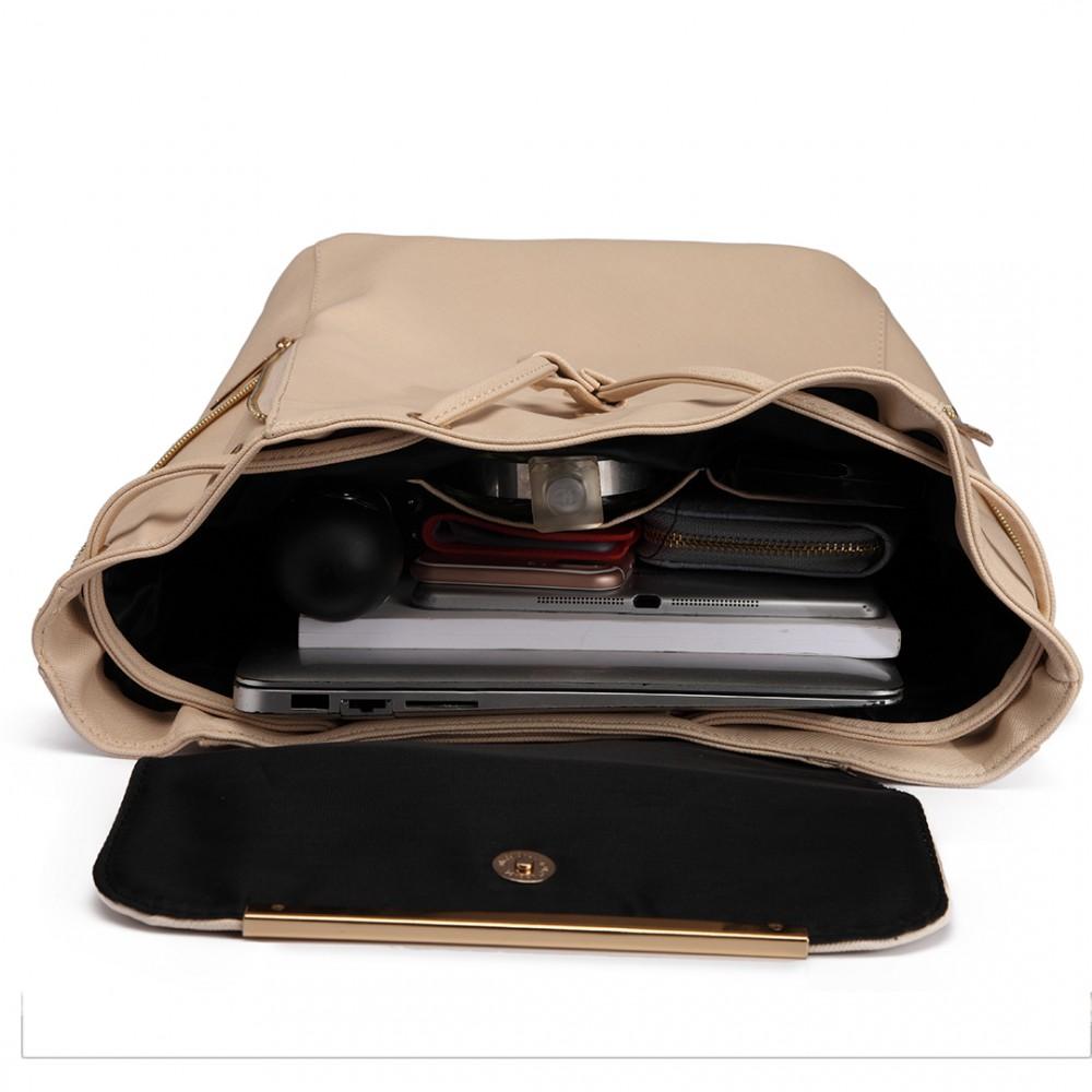 Stylový dámský módní batoh E1669 béžový