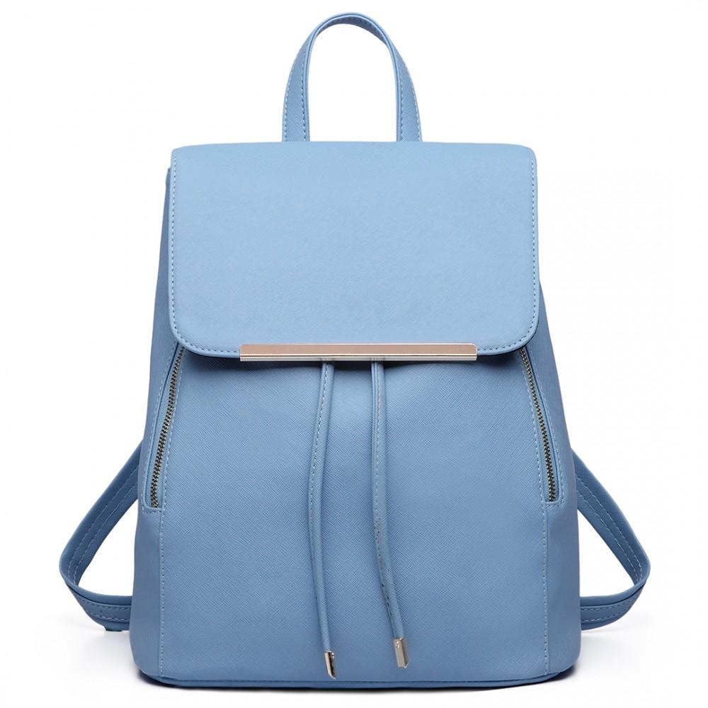 Štýlový dámsky módny batoh E1669 svetlo modrý
