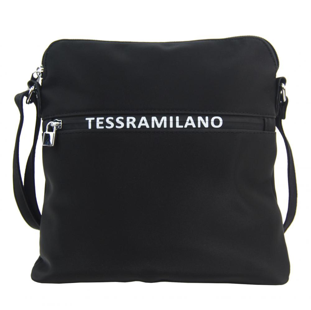 Športová crossbody dámska textilná kabelka 5329-BB čierna