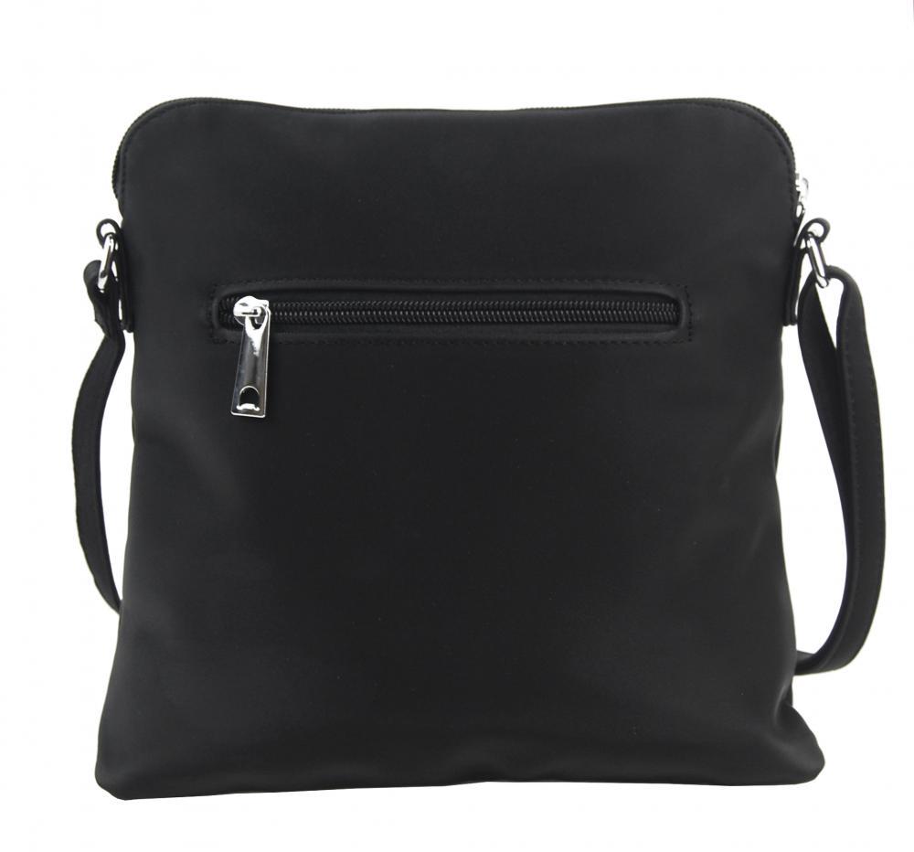 Sportovní crossbody dámská textilní kabelka 5329-BB černá