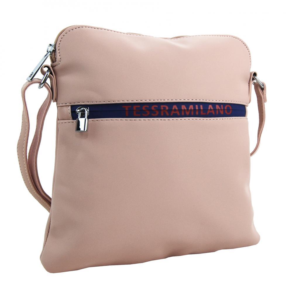 Športová crossbody dámska textilná kabelka 5329-BB ružová