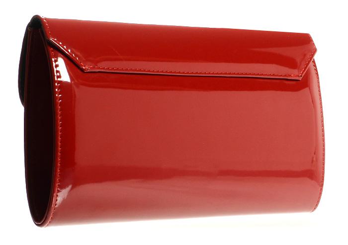 Červené lakované společenské dámské psaníčko SP102 GROSSO