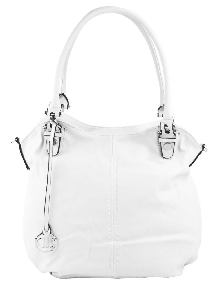 Velká dámská kabelka / pytel přes rameno 334-MH bílá