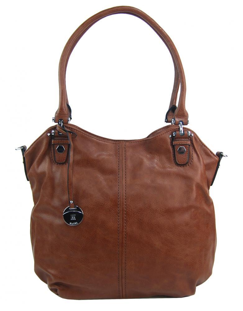 Veľká dámska kabelka / vrece cez rameno 334-MH hnedá