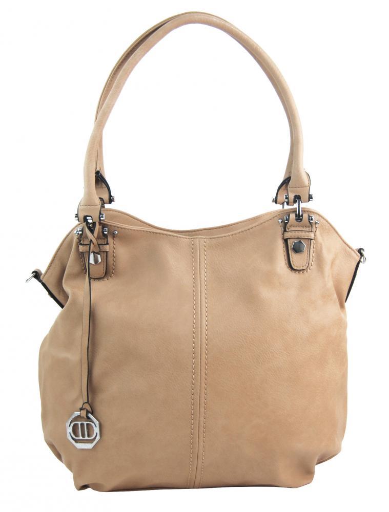 Veľká dámska kabelka / vrece cez rameno 334-MH marhuľovo hnedá