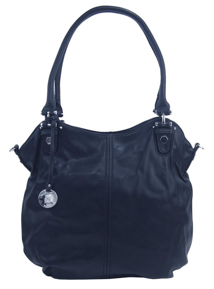 Veľká dámska kabelka / vrece cez rameno 334-MH tmavo modrá